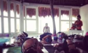Yoga class in Tulum